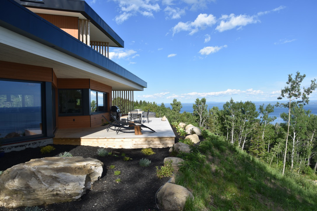 chalet location prestige luxe charlevoix cottage rent luxury quebec vente terrain